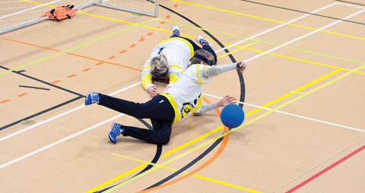 Goalball defence