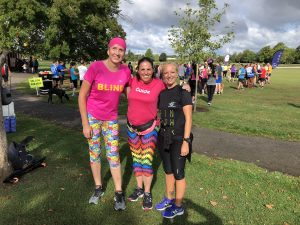 Sarah Stephenson and Hannah Webber at Long Eaton parkrun