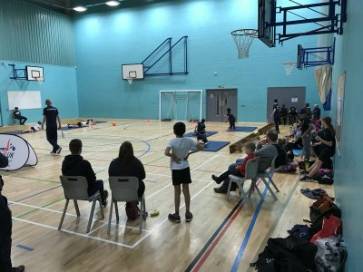 Photo of spectators at Goalball UK school competition