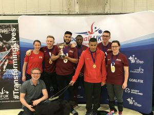 Photo of Northern Allstars sporting their medals at the end of the Goalfix Goalball Cup 2019