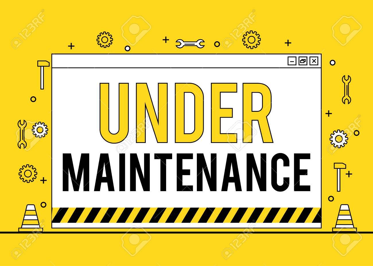 under maintenance logo