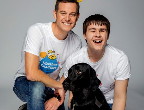 Goalball player joining Children in Need's Rickshaw Challenge