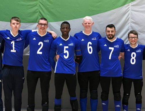 Goalball UK congratulate GB men's debutant