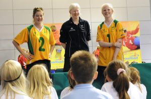 Q&A session with Australia Goalball at a taster session linked to the 2010 World Championships in Sheffield