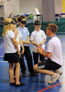 Children being coached at a taster session
