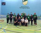 Group photo from the Nottingham Varsity match, with both teams and coaches