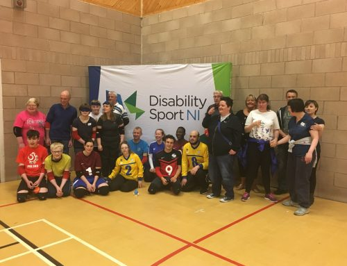 Digging through the Goalball UK archives – Northern Ireland 'Goalball Roadshow'