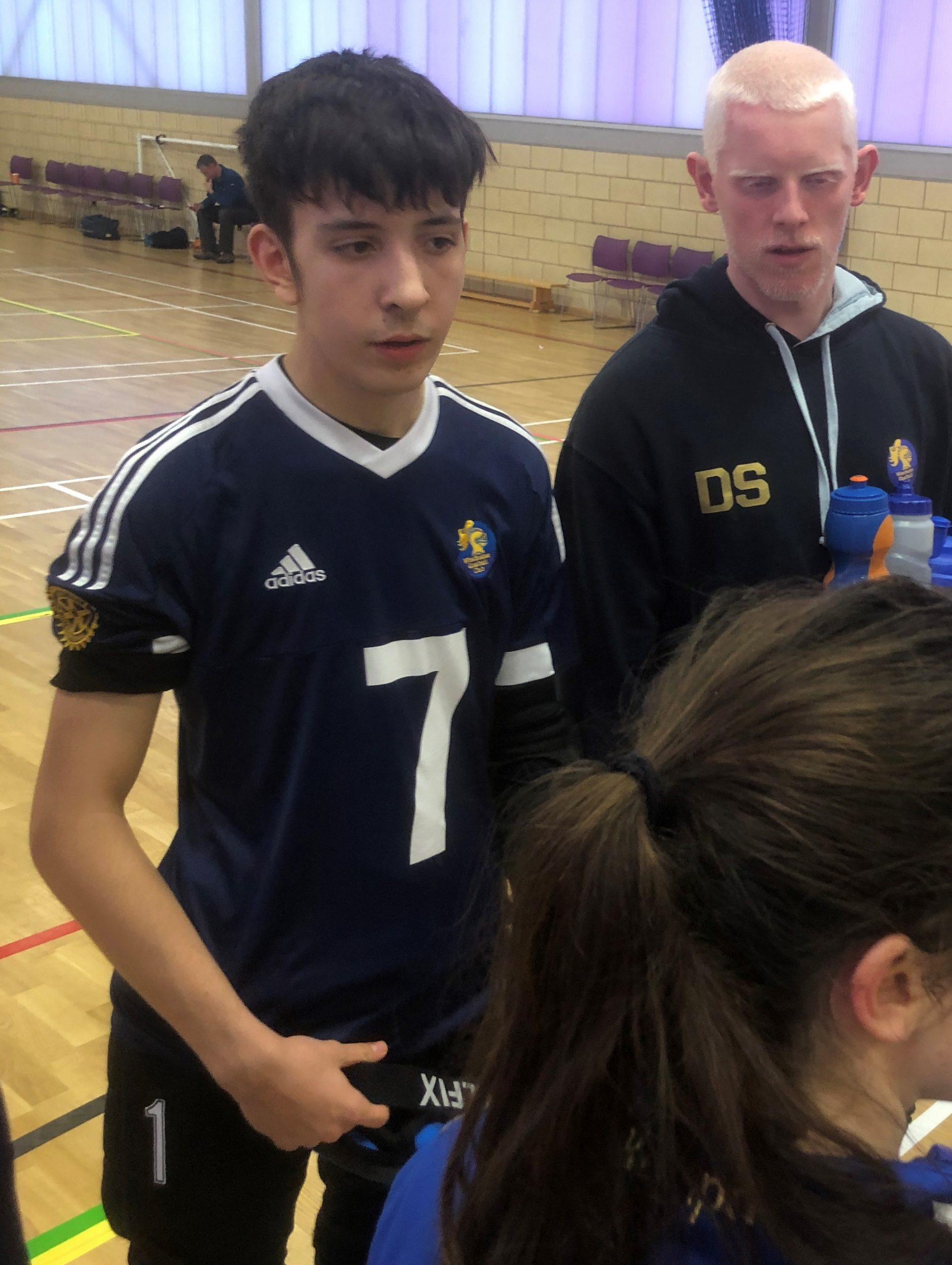 Photo of Paddy Harmer on court in his Winchester Goalball Club kit.