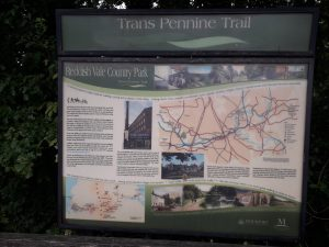 A map of the Trans Pennine Trail