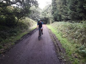 Phil cycling along the Trans Pennine Trail