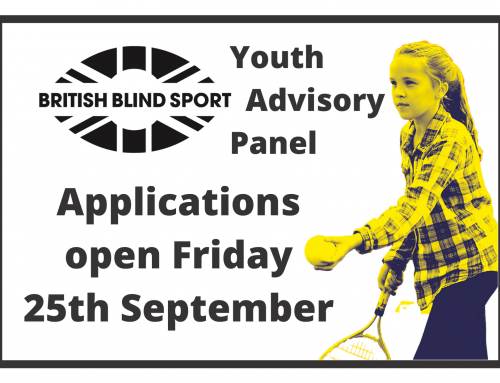 Applications open for the British Blind Sport Youth Advisory Panel