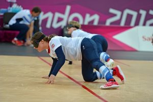 Image shows Louise Simpson in action at the London 2012 Olympics