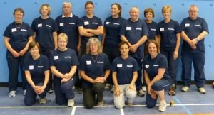 Image shows the Goalball UK referees stood together