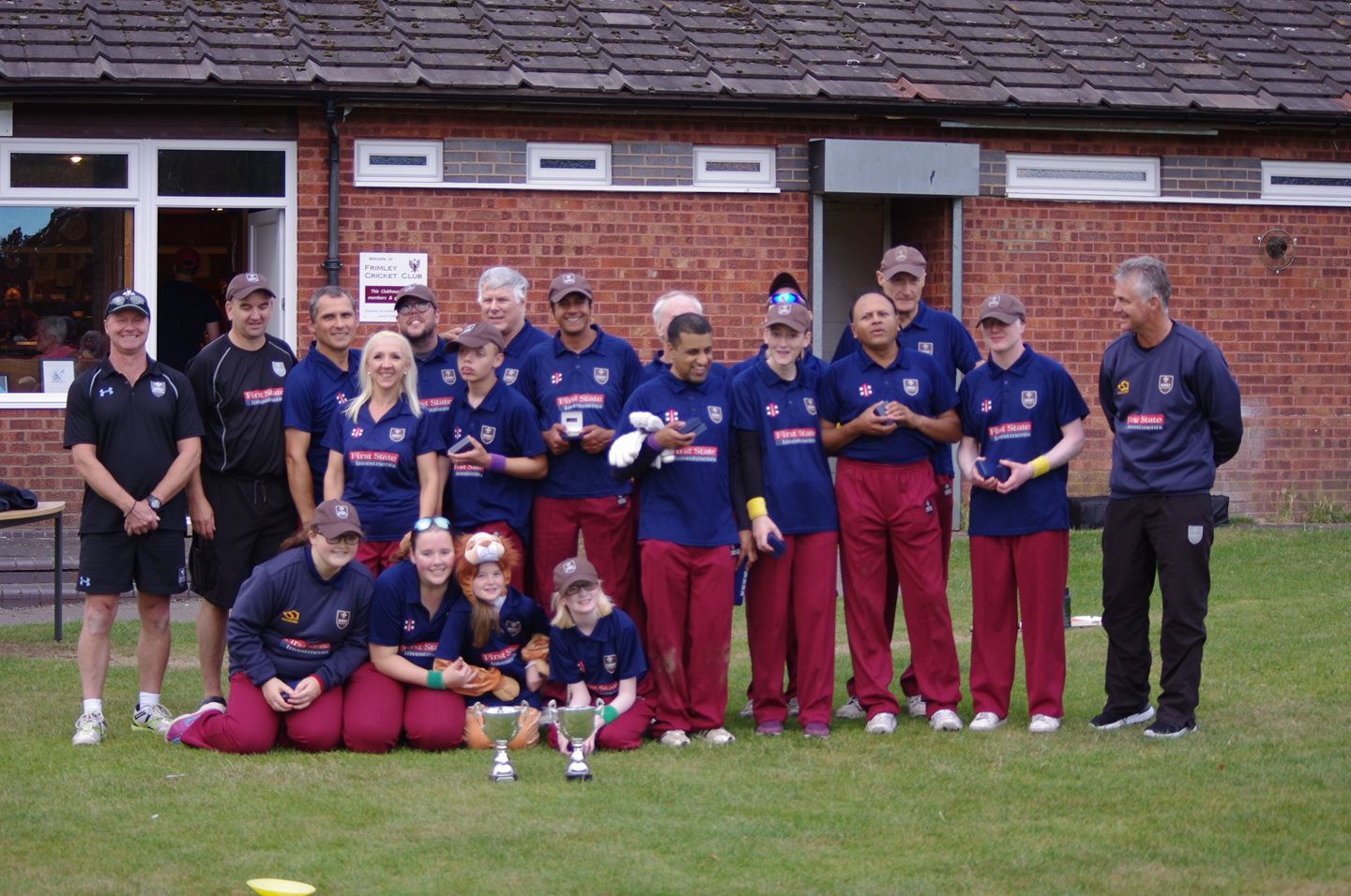 Image shows Lois with they Surrey VI cricket team