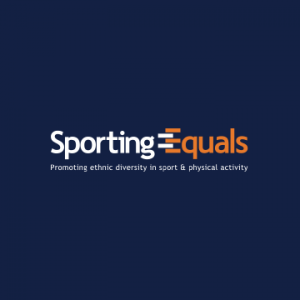 Sporting Equals logo. Their accompanying slogan reads