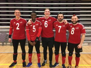 GB Men's team photo. Josh McEntee pictured third from the left with number six on his shirt.