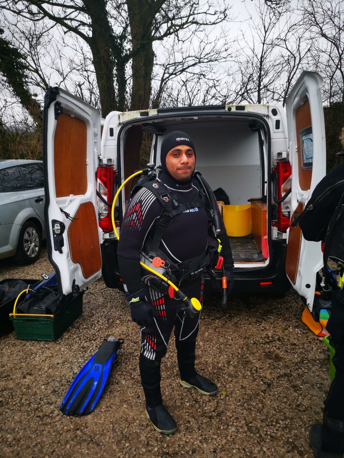 Mohammed Salid in his diving gear.