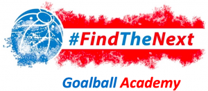 The #FindTheNext Goalball Academy logo.