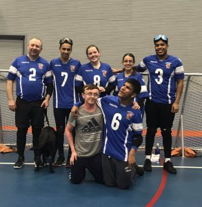 Birmingham Goalball Club team photo.