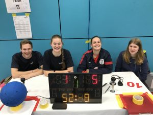 Photo of table officials at Sheffield North tournament.