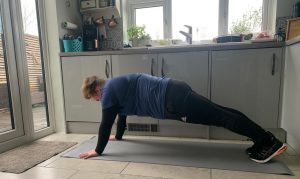 Kali Holder high plank.