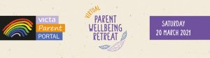 A logo saying 'Virtual Parent Wellbeing Retreat'