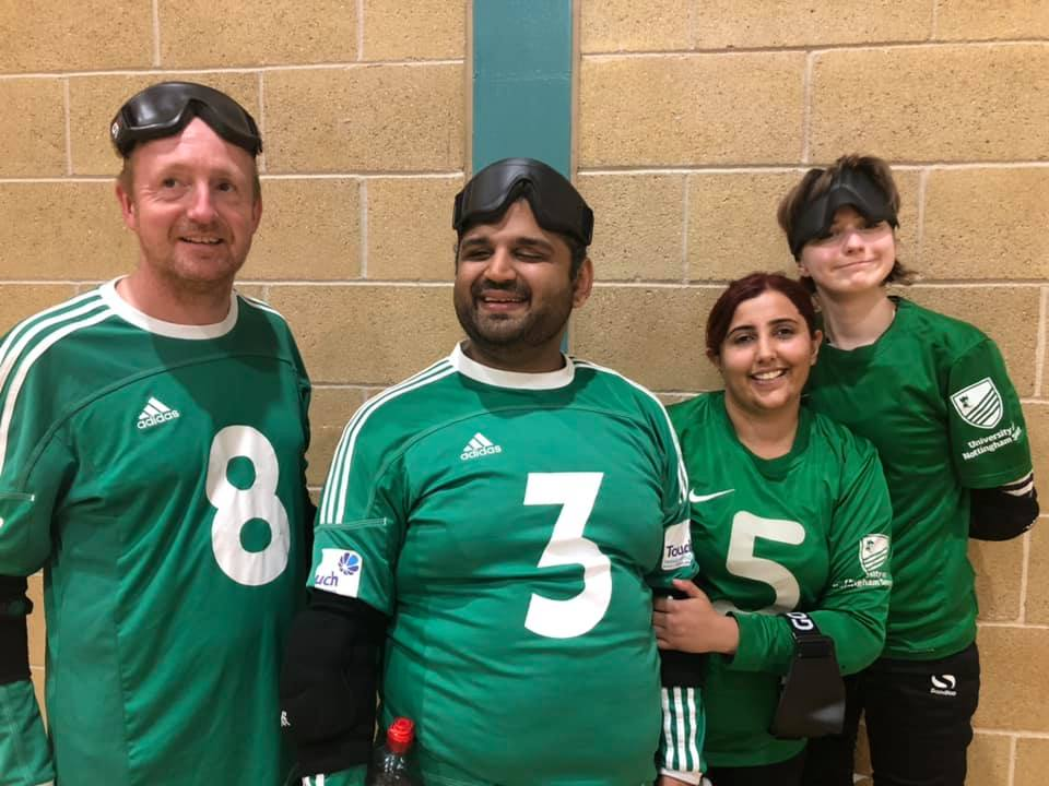 Image shows Bilal stood with his Nottinghamshire Sheriffs teammates following a tournament