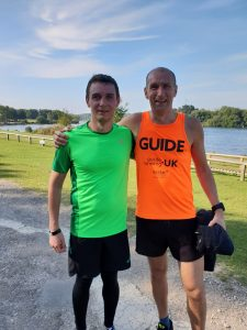 Anthony and his guide runner at Rother Valley parkrun