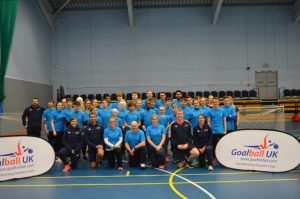 Group photo of players, volunteers and staff at Talent Camp 2018