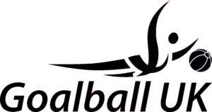 Goalball UK logo in black and white