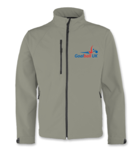 Shop photo of Goalball UK zip up jacket in grey