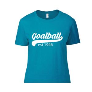 Shop photo of Goalball t-shirt, in light blue