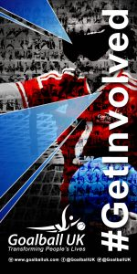 Goalball UK # Get Involved logo