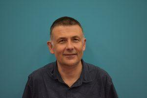 Mark Martin in a blue shirt
