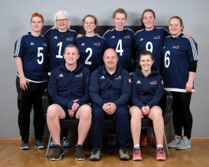 Group photo of GB Women, coaches and support staff