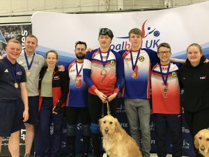 Photo of RNC sporting their medals at the end of the Goalfix Goalball Cup 2019