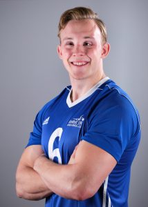 Side profile of GB player Josh McEntee