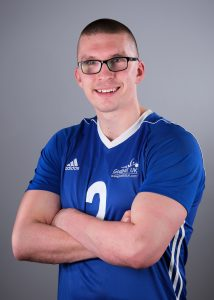 Side profile of GB player Matt Loftus