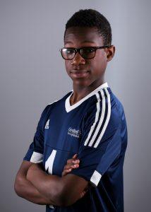 Side profile of player Michael Hobbs-Brown
