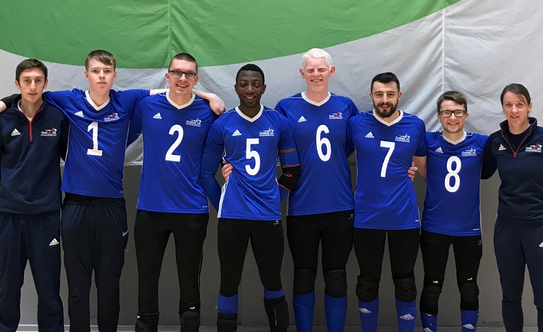Goalball UK congratulate GB men's debutant
