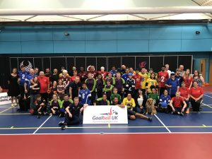 Group image of the goalball family, from the 2019 End of Season tournament.