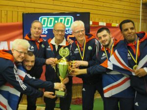 Mike Reilly with the GB Men's team at a European Championships