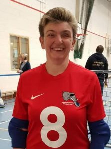 Tracy, on court in her London Elephants kit