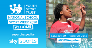 Youth Sport Trust promotional image for National School Sport Week 2020