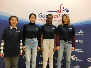 A group of international students volunteering at a tournament in Bristol