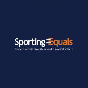 Sporting Equals logo. Their accompanying slogan reads