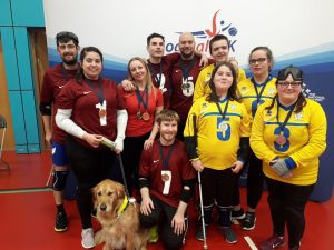 West Yorkshire Novice & Intermediate team photo both with medals and guide dogs.