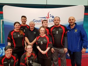 York St John University Goalball Club team photo.