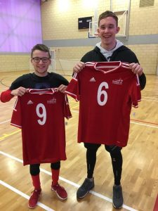 Josh McEntee and Joe Roper pictured with their first GB tops after being selected ahead of an international event in Budapest.