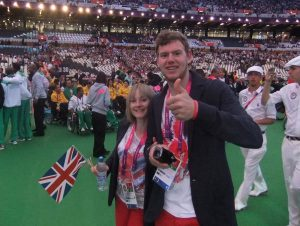Niall Geddes at London 2012 Paralympic Games Opening Ceremony.